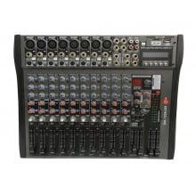 Mixer 12 Canais K2 Áudio c/ USB KM-1206USB