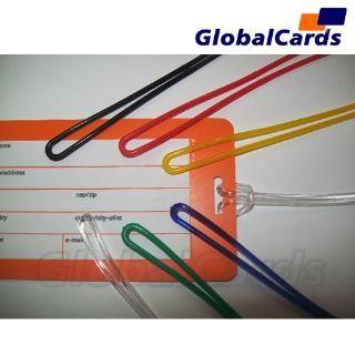 Alça de Etiqueta de Bagagem cordão de Silicone transparente  17cmx2mm - cento