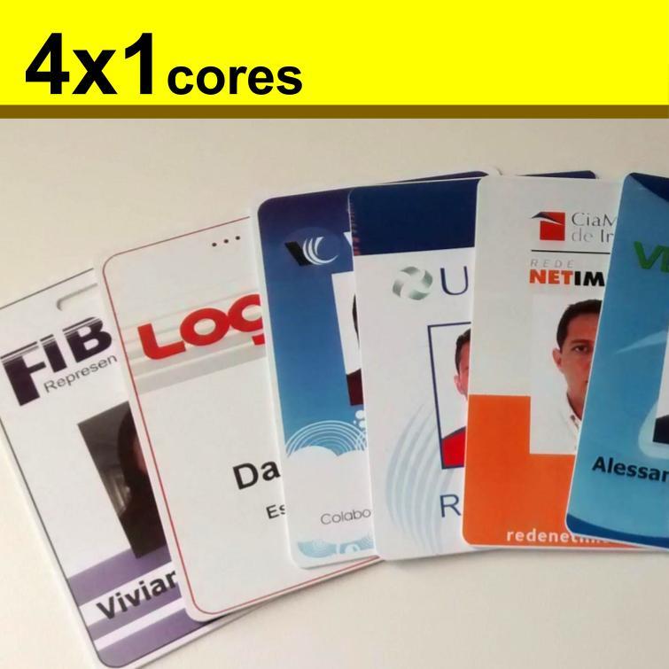 Crachás de PVC 0,76mm 4x1 Cores Dados Mínimo 1 unidade