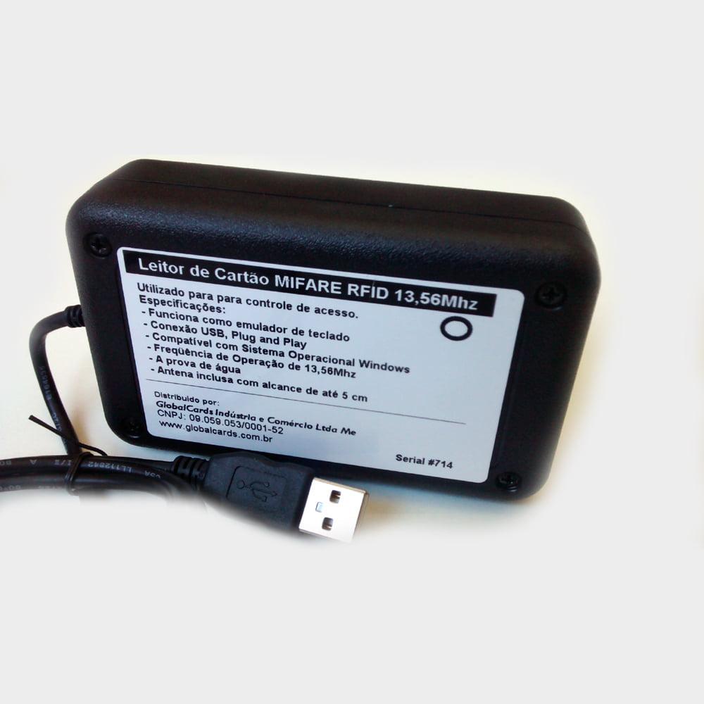 Leitor de Proximidade RFID 13,56Mhz cartão Mifare Ultralight, Mifare 1k, Mifare 4k