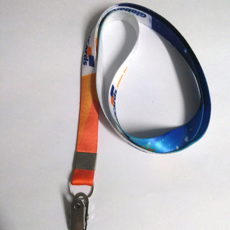 Cordão Digital 15mm para crachá c/ presilha clips jacaré (mínimo de 200)