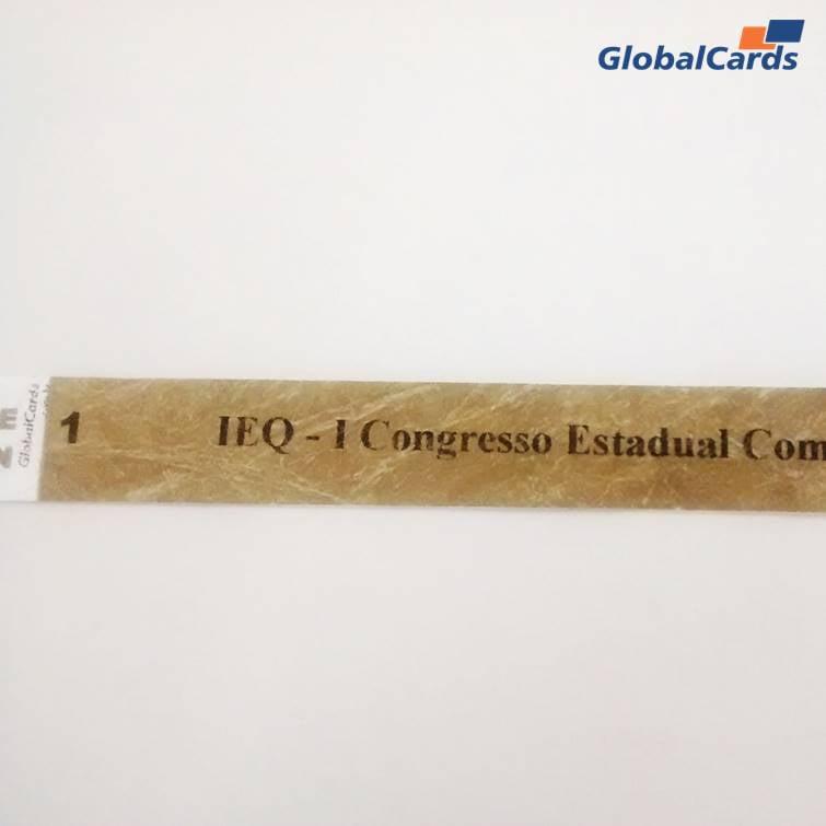 Pulseiras Identificação Eventos e Festas Tyvek Dourada (pacote c/ 100)