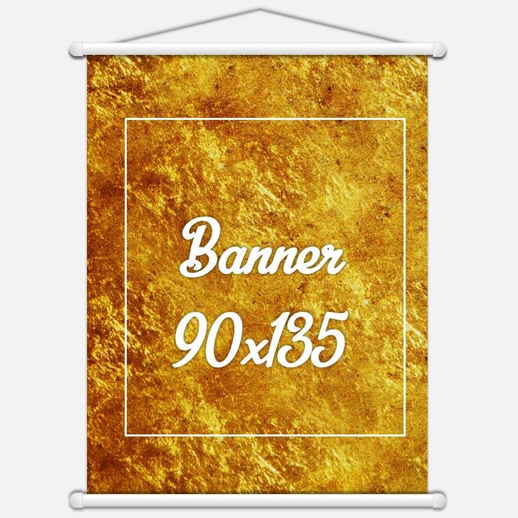 Banner Lona 280gr 90x135cm 4x0 cores
