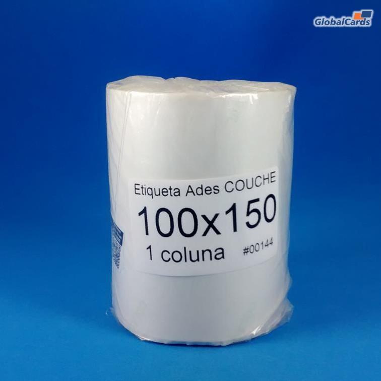 Etiqueta Adesiva Couchê 100x150mm x 1 colunas