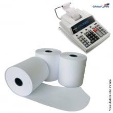 Bobina Branca 57mmx30m 1 via Acetinada para Calculadora Registradora