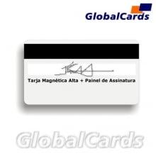 Cartão Magnético PVC c/ Tarja Magnética de Alta com Painel de Assinatura
