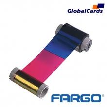 Ribbon Fargo 81733 YMCKO colorido, 250 Impressões C10, C11, C15, C16, C25, entre Outras
