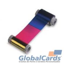 Ribbon Fargo 81733 YMCKO colorido, 500 Impressões C10, C11, C15, C16, C25, entre Outras