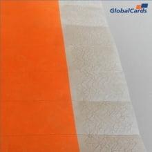 Pulseiras Identificação Eventos e Festas Tyvek Laranja Fluor/Orange (pacote c/ 10)