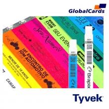 Pulseiras Identificação Eventos e Festas Tyvek Prata/ Cinza (c/ 10)