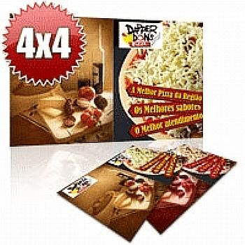 Folder Couchê 120g Sem Verniz 15x21 - 4x4 - 1000 Unidades