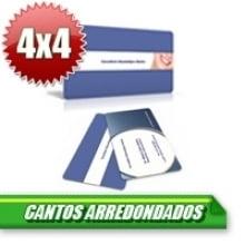 Cartão de Visita Couchê 300g UV Local 9x5 Cantos Arredondados - 4x4 - 500 Unidades