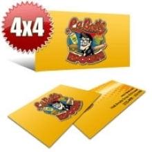 Cartão de Visita Couchê 300g UV FR Total Frente  9x5 - 4x4 - 1000 Unidades