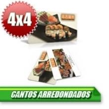 Cartão de Visita Couchê 300g Lam Fosca 9x5 Cantos Arredondados - 4x4 -1000 Unidades
