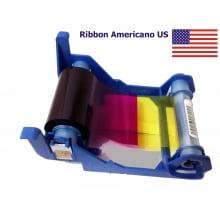 Ribbon Zebra 800017-240US YMCKO (Color) 200 imp. P100i, P110i e P120i subst versão Americana US