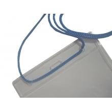 Porta CREDENCIAL Transp Bolsa de PVC Vert 09x14cm área útil C/ cordão pp (100un)