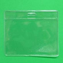 Bolsa de PVC Transparente Horizontal 90x60mm para crachás área útil 86x54mm ( 1 unid.)
