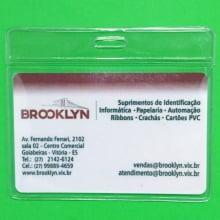 Bolsa de PVC Transparente Horizontal 90x60mm para crachás área útil 86x54mm ( 100 unid.)