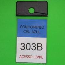 Porta Bolsa de Estacionamento PVC 001 Vertical com Furo Retrovisor Automóvel 92x137mm PRETA (un)