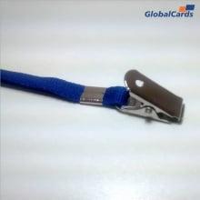 Cordão Liso 09mm para Crachá com Presilha Clips Jacaré - Azul Royal