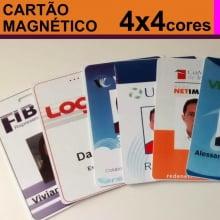 Crachás PVC 0,76mm Tarja Magnética Alta - 4x4 Cores Dados Variáveis - Frente Color e Verso Color