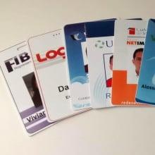Crachás PVC 0,76mm MIFARE Smartcard 1K 4x4 Cores Dados Variáveis - Frente Color e Verso Color