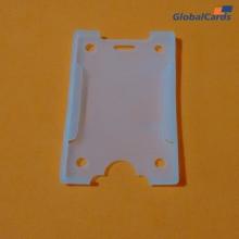 Protetor Crachá Rígido  Vertical Transparente para cartões  54x86mm   (1 unid)