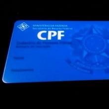 Cartão CPF em PVC 0,76mm 4x4 cores
