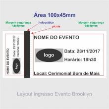 Ingresso de Segurança para Show, Festa e Evento 105x50mm mínimo 12un