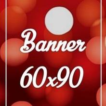 Banner Lona 280gr 60x90cm 4x0 cores