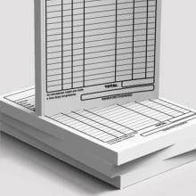 Receituários / Recibos Blocos ou Comandas Sulfite 75g Preto Branco 15x21cm 1x0 cores com 10 Unidades
