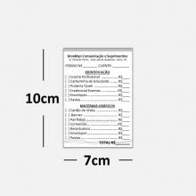 Receituários / Recibos Blocos ou Comandas Sulfite 75g Preto Branco  7x10cm 1x0 cores com 25 Unidades