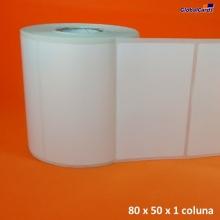Etiqueta Adesiva BOPP 80x50mm x 1 colunas
