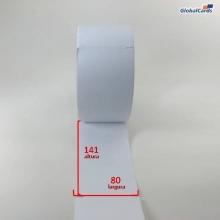 Etiqueta Cartão 120gr 80x141mm x 1 coluna