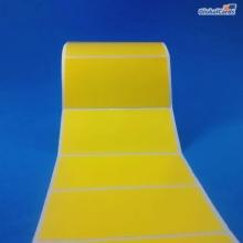 Etiqueta Adesiva Couchê 100x50mm x 1 coluna Amarela