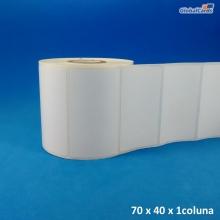 Etiqueta Adesiva Couchê 70x40mm 1 coluna