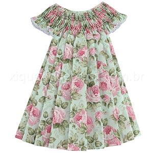 Vestido Casinha de Abelha Água Rosa - 2 anos