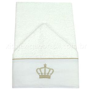 Toalha de Banho Capuz Buddemeyer Coroa Bege
