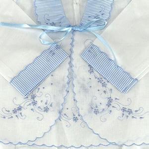 Pagão 3 Peças Floral Azul