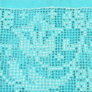 Toalha Labirinto Azul Turquesa