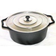 Caçarola Alça de ferro tampa de aluminio 26 litros 50 cm