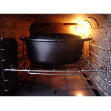 panela de ferro fundido, caçarola, cacarola, 2,5 litros, panela mineira,oval