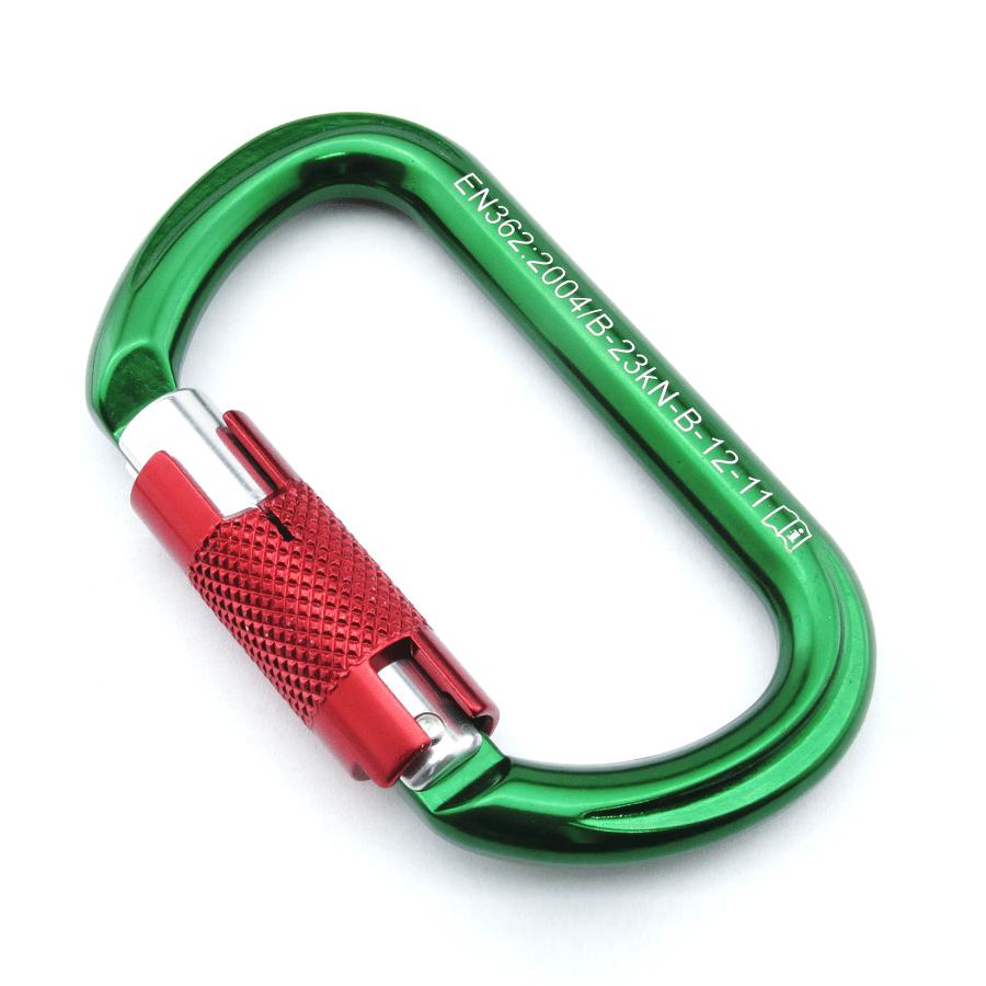 Mosquetão Oval 23kN Trava Keylock Automática Duralumínio Colorid