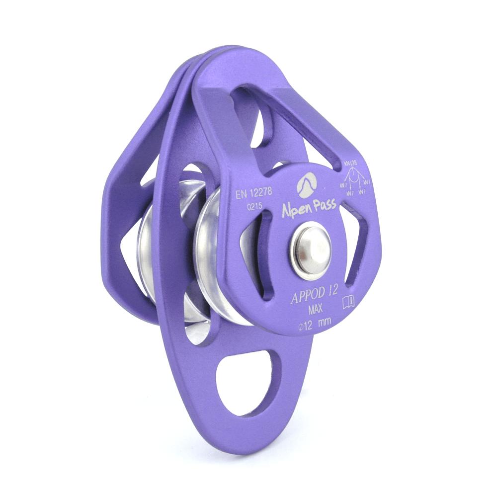 Polia Dupla Lateral Oscilante Pequena para Cordas até 12mm 28kN APPOD12