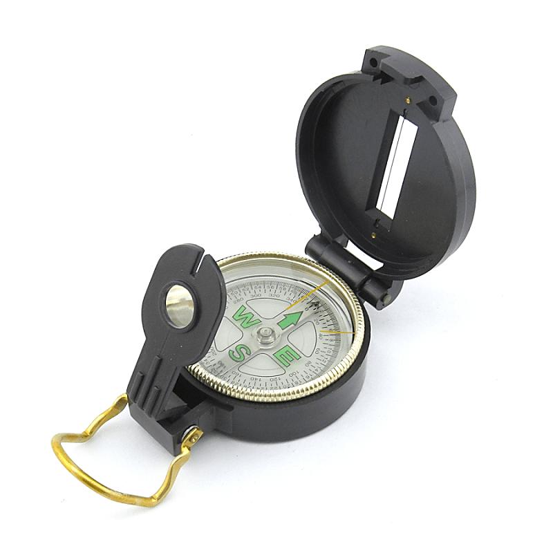 Bussola Militar Plástica com Tampa  MG45-1 360º
