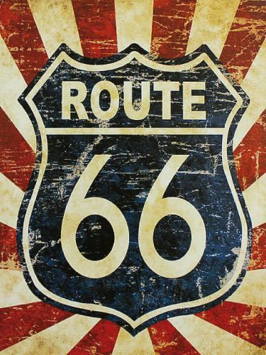 Placa decorativa vintage retro route 66 pdv125 - Placas pared decorativas ...