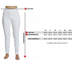 Calça Térmica Feminina Segunda Pele Thermo Plus - Branca