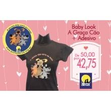 Baby Look + Adesivo com até 15% de desconto