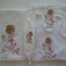 Presente para Recem Nascido Bordado Menina