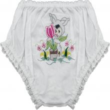 Calcinha bordada bebê coelho